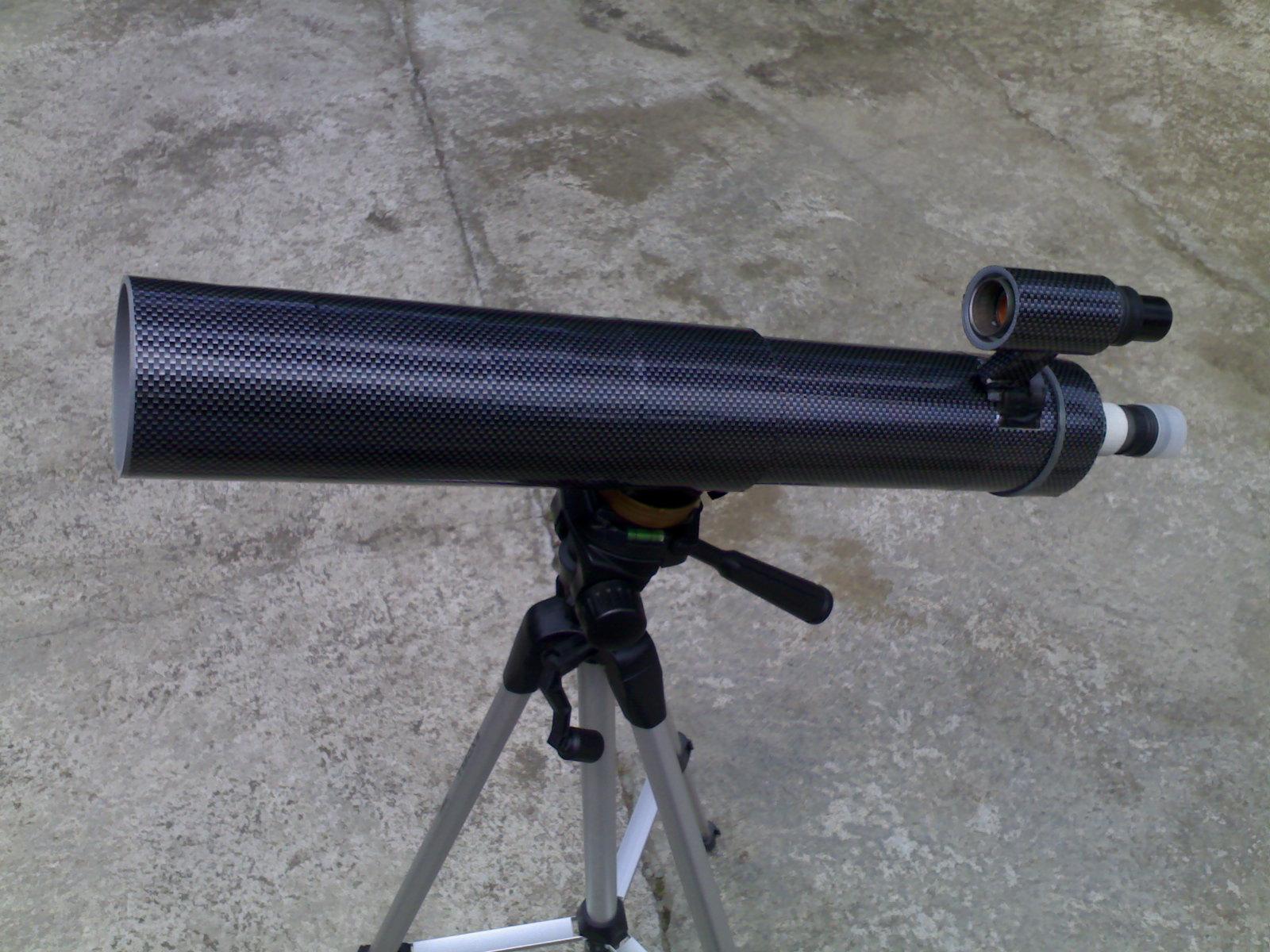 Membuat teleskop refraktor tunjuk tangan